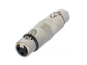 Neutrik NA3FF XLR/XLR Rundadapter