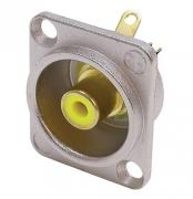 Neutrik NF2D-4 Cinch Einbaubuchse gelb